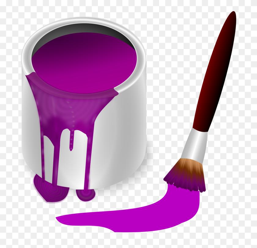 Oil Paint Bucket Paint Rollers Color - Paint Bucket Clipart
