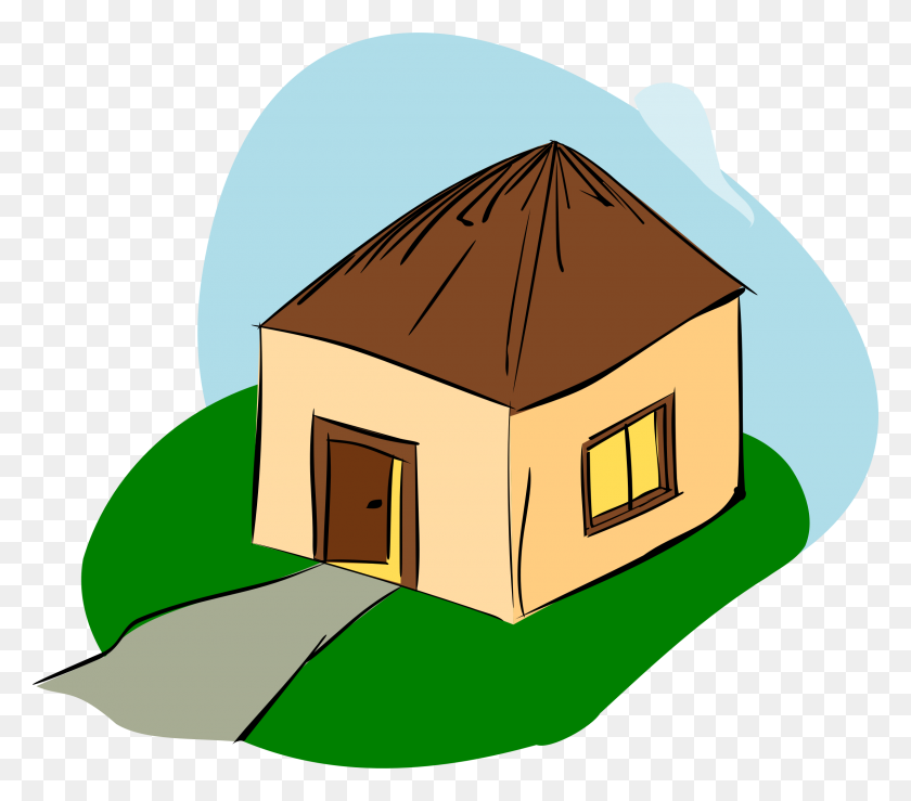 Old House Clipart Hut - Old House Clipart