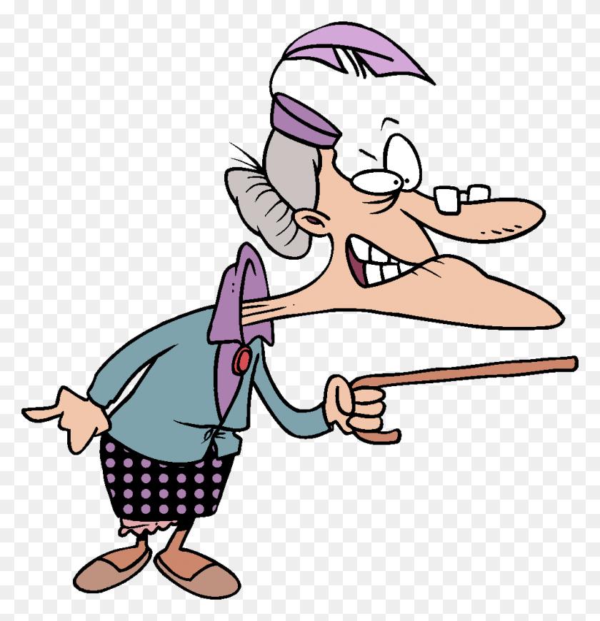 Old Lady Bingo Joke Cute Cartoon, Old Lady Cartoon - Old Age Clipart