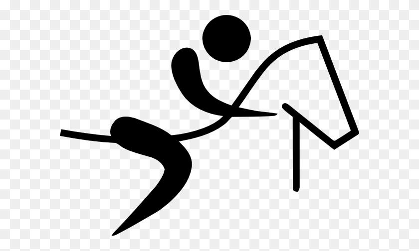 Olympic Equestrian Logo Clip Art - Equestrian Clipart