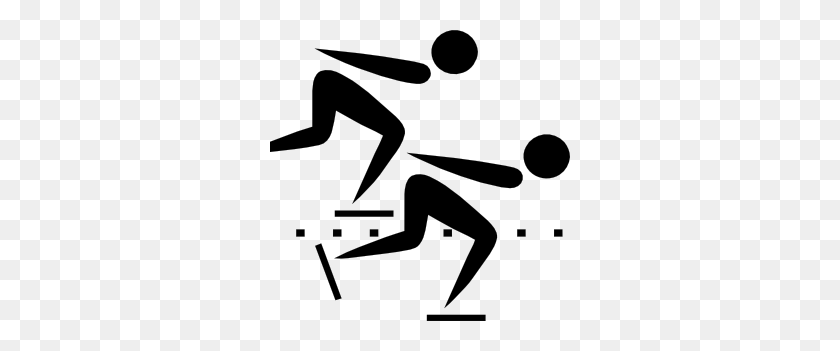 Olympic Sports Speed Skating Pictogram Clip Art Olympics - Olympics Clipart