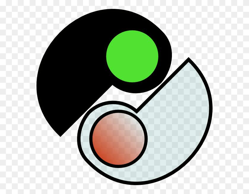 One And Two Yin Yang Clip Art Free Vector - Yin Yang Clipart