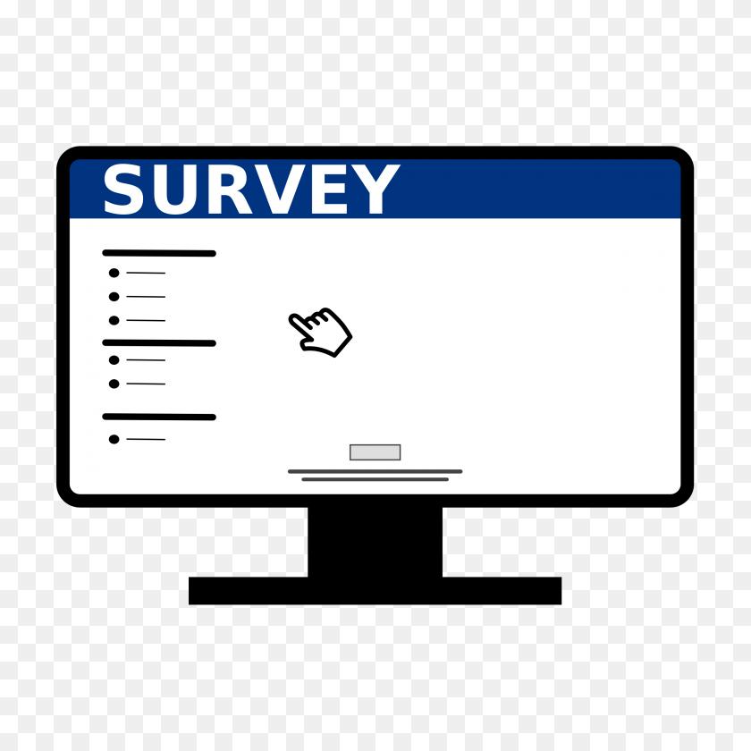 2400x2400 Online Computer Survey Icons Png - Survey PNG