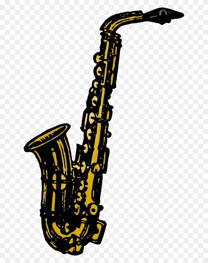 Onlinelabels Clip Art - Sax Clip
