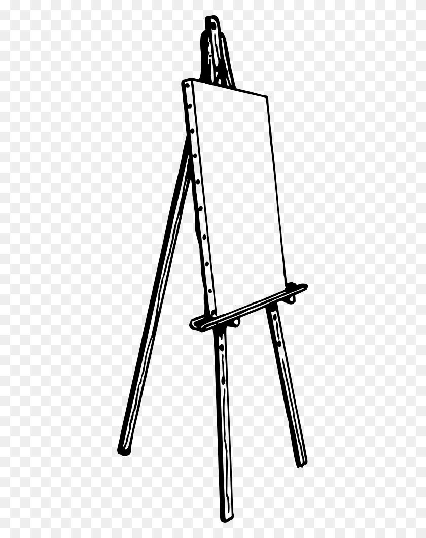 377x1000 Onlinelabels Clip Art - Art Easel Clipart
