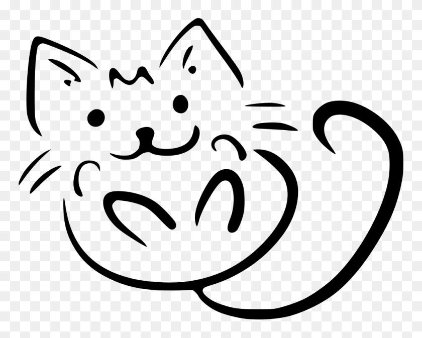 Onlinelabels Clip Art - Black And White Clipart Cat