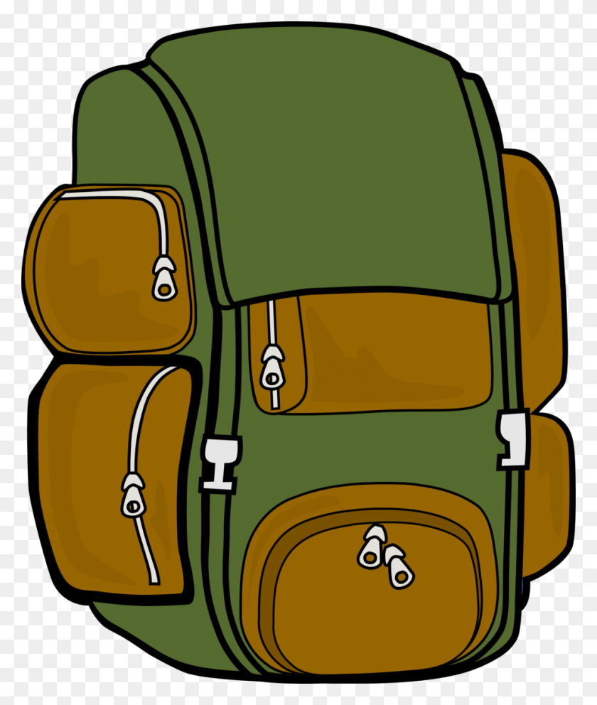 Open Backpack Clip Art - Open Backpack Clipart