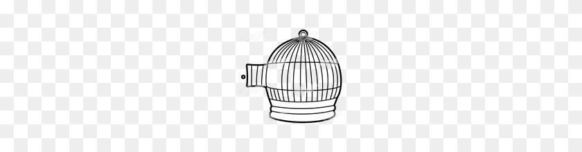 Open Door Clipart Bird Cage - Open Door Clipart Black And White