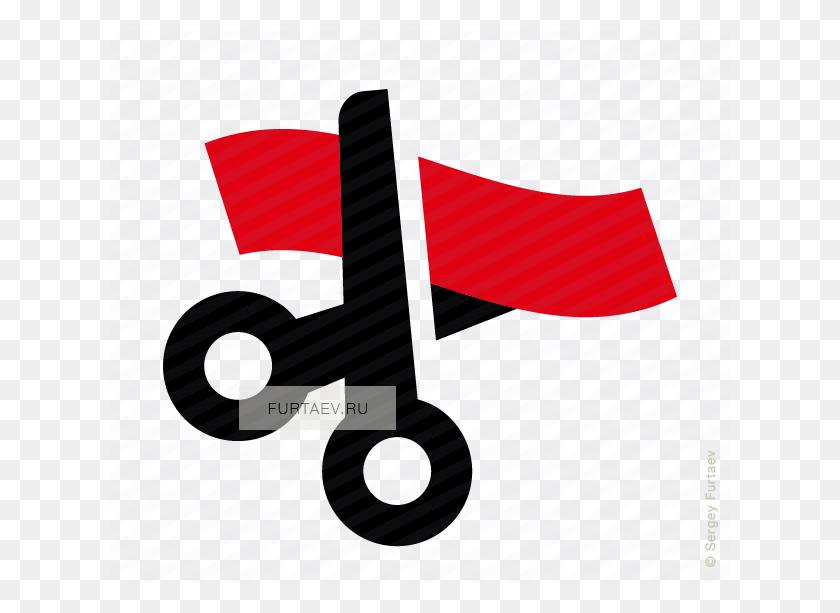 Opening Ribbon Vector Icon - Ribbon Cutting PNG