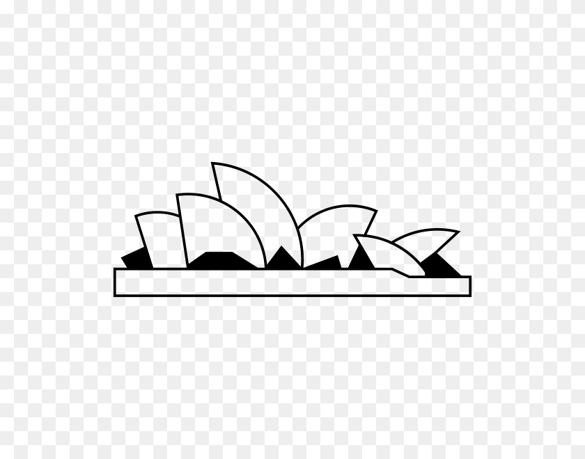 600x600 Opera Rubber Stamps Stampmore - Sydney Opera House Clipart