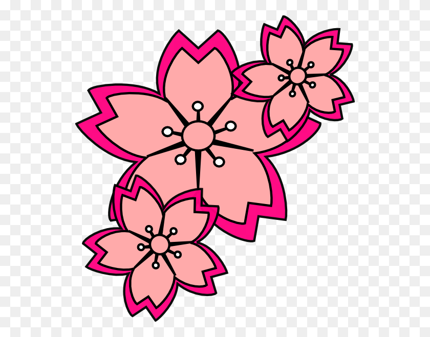 546x599 Orange Blossom Clip Art - Orange Flower Clipart