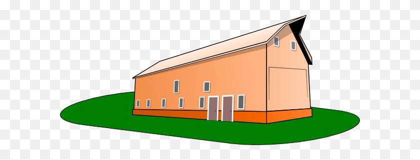 600x261 Orange Cartoon Barn Clip Arts Download - Lot Clipart