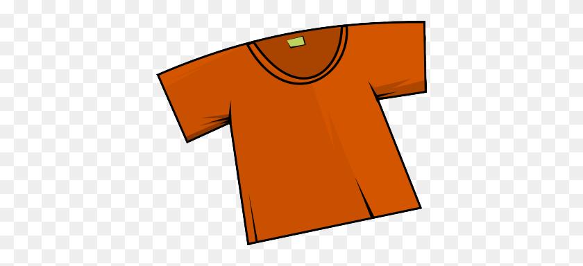 390x324 Orange Clipart T Shirt - T Shirt Clipart Images