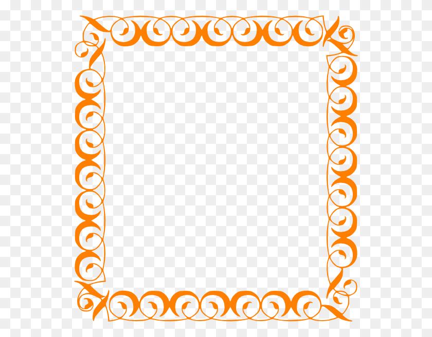 Orange Elegant Border Clip Art - Elegant Christmas Clipart