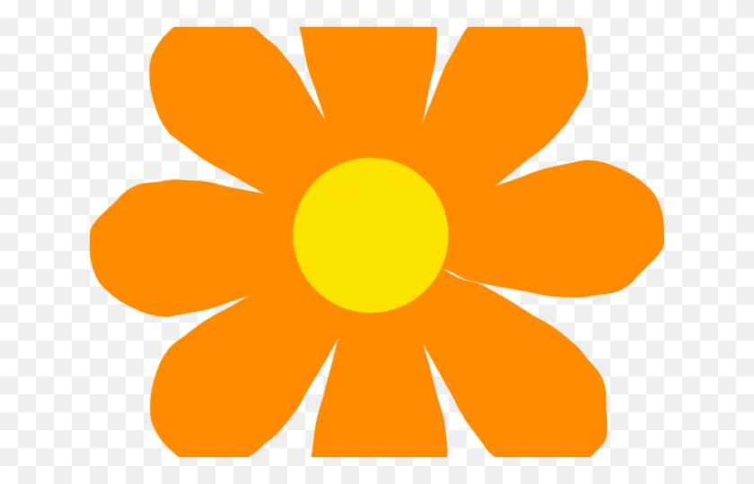 Orange Flower Clipart - Single Flower Clipart