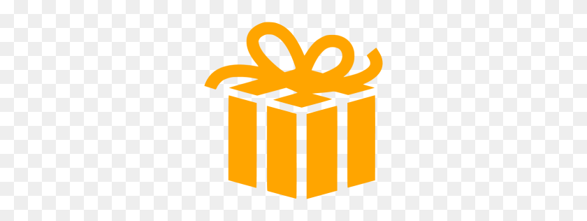 Orange Gift Icon - Gift Icon PNG