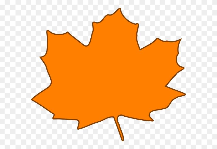 Orange Leaf, Brown Border Png, Clip Art For Web - Leaf Border Clip Art