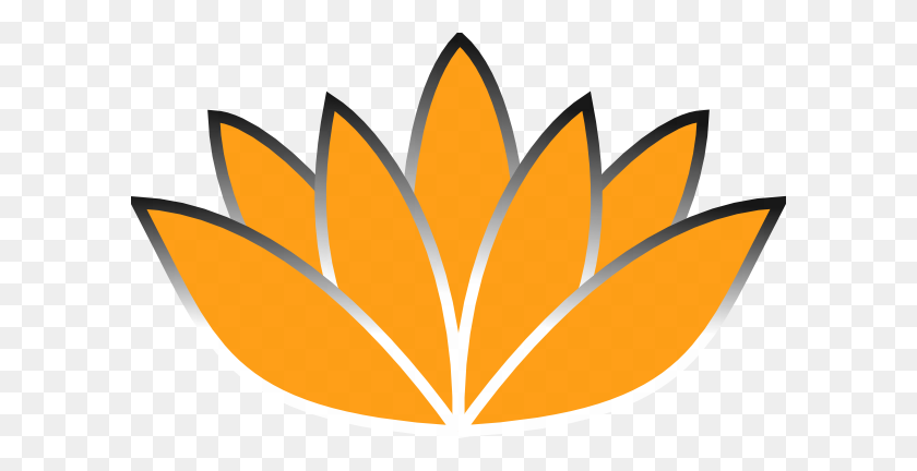 600x372 Orange Lotus Flower Picture Iii Clip Art - Lotus Flower Images Clipart