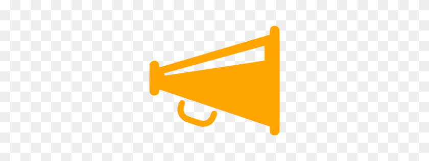 256x256 Orange Megaphone Icon - Megaphone PNG