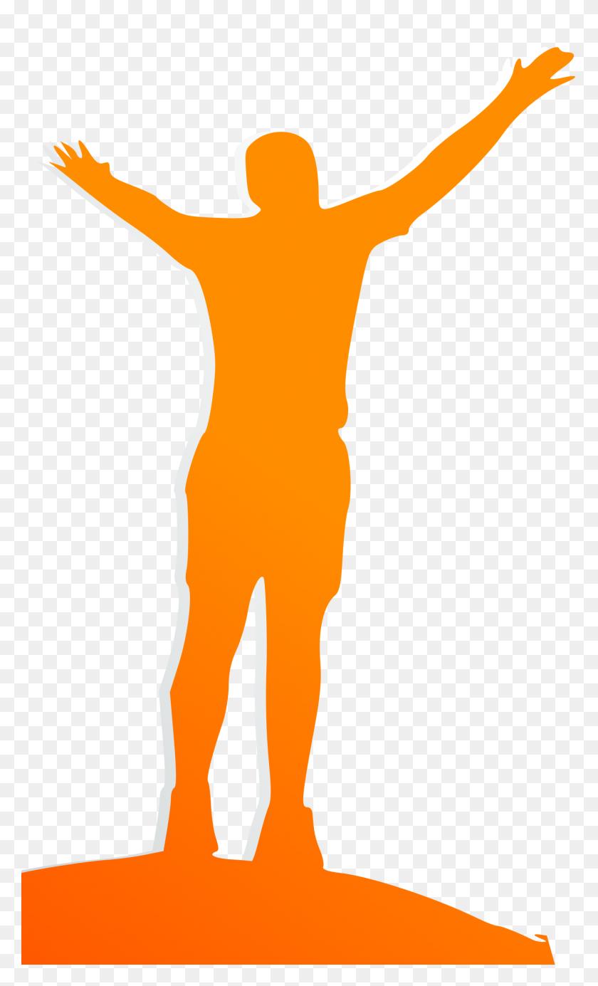 Orange Men Clipart - Men Running Clipart