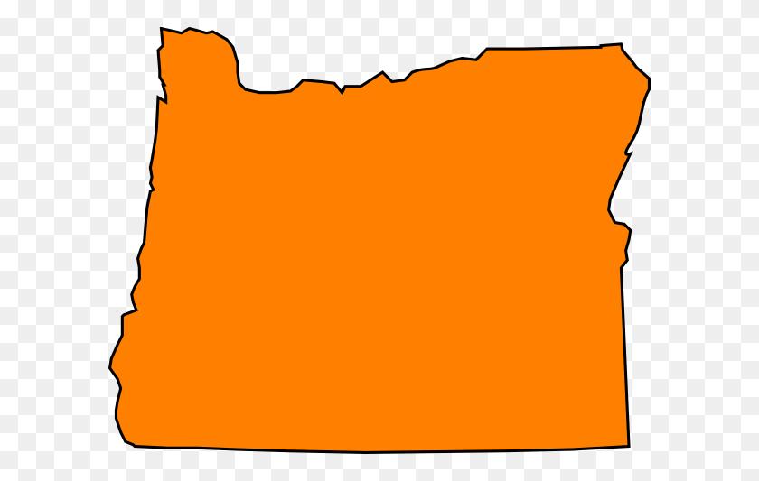 Orange Oregon Clip Art - Oregon Clip Art