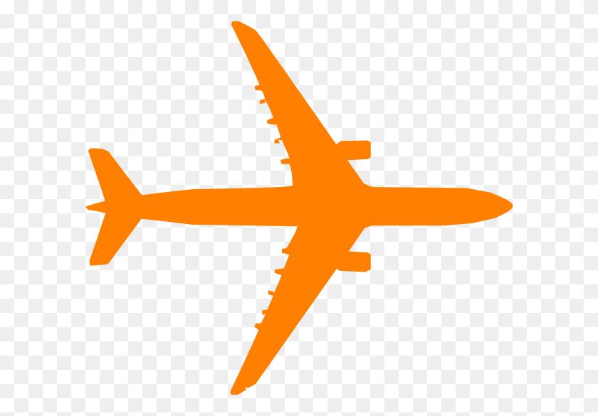 Orange Plane Clip Art - Airplane Clipart Free