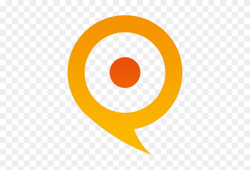 Orange Pointer Globe Icon - Globe Icon PNG