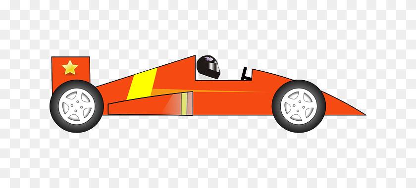 Orange Race Car Clip Art Clipart - Race Clipart