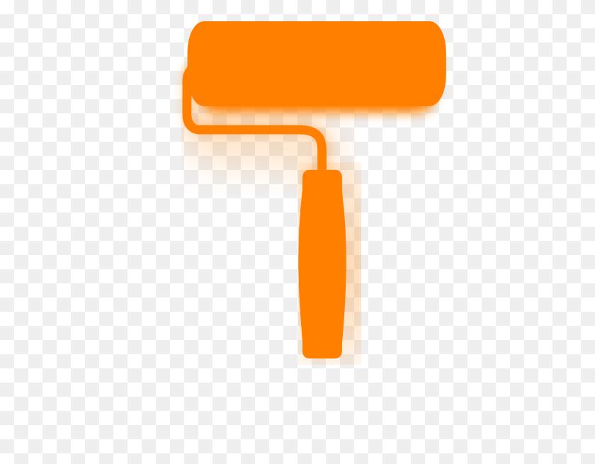 Orange Roller Clip Art - Paint Roller Clipart