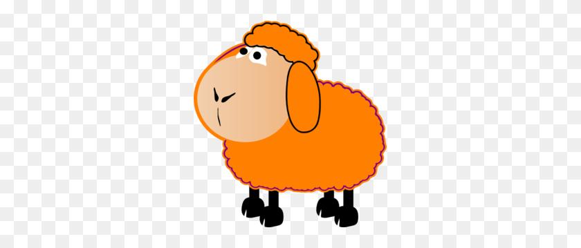 Orange Sheep Clip Art - Sheep Clipart