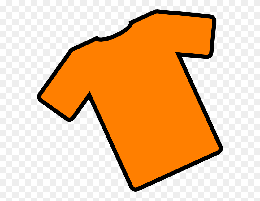 600x590 Orange T Shirt Angled Clip Art - T Shirt Clipart Images