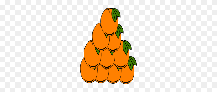 Orange Triangle Clip Art - Tangerine Clipart