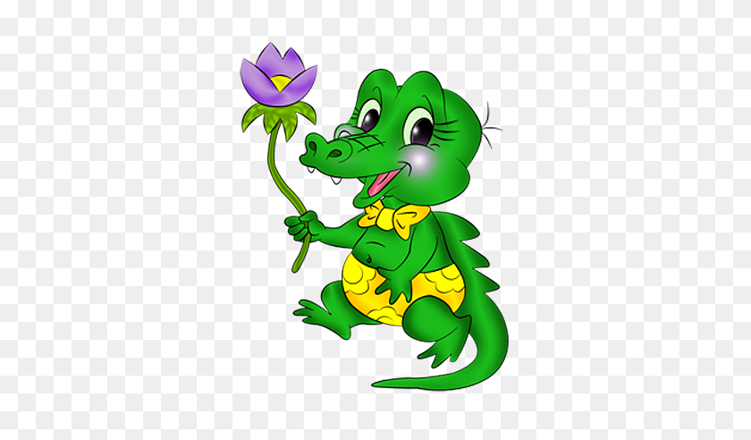 Orig Clipart - Cartoon Alligator Clipart