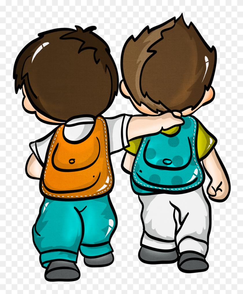 Orig Kid Clip Arts School - Preschool Kids Clipart
