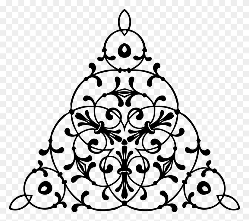 Ornament Computer Icons Christmas Tree Symmetry Black And White - Ornament Clipart Black And White