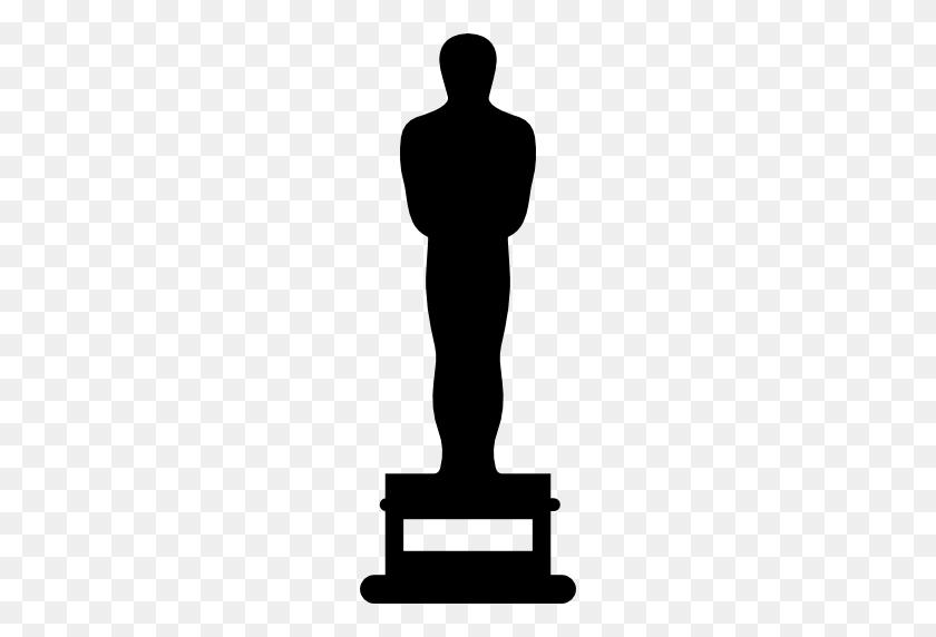 Oscar Prize Statue Silhouette - Oscar PNG