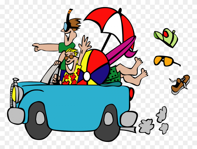 Out On Vacation Clipart - Vacation Clipart Black And White