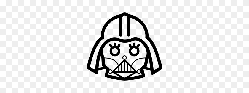 Outline, Darth Vader, Darth, Vader, Frontal, Coucou, Movie, Cinema - Darth Vader Clipart