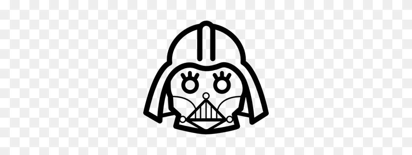 256x256 Outline, Darth Vader, Darth, Vader, Frontal, Coucou, Movie, Cinema - Darth Vader Clipart