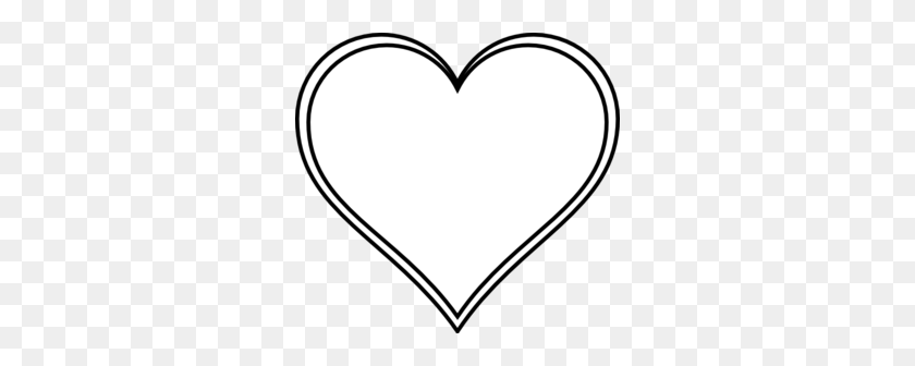 Outline Heart Clip Art - Two Hearts Clipart