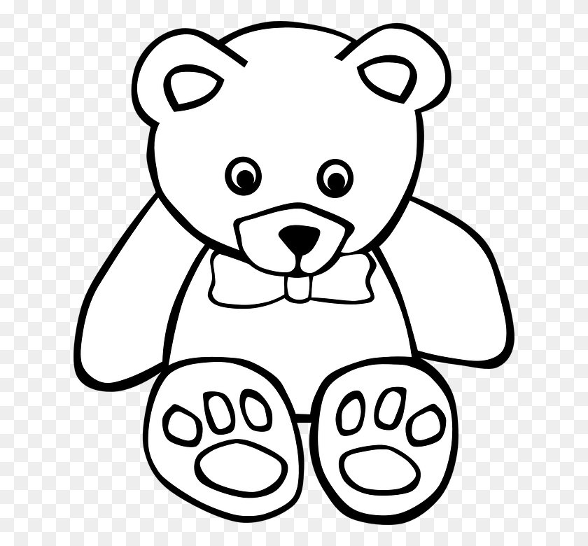 Outline Of A Teddy Bear Free Download Clip Art - Mama Bear Clipart