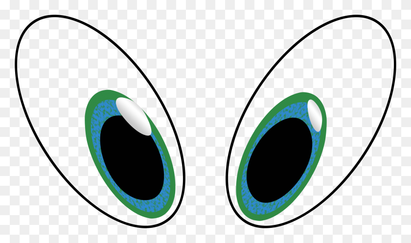 Outlined Sad Cartoon Eyes Clipart Eyeballs - Sad Eyes Clipart