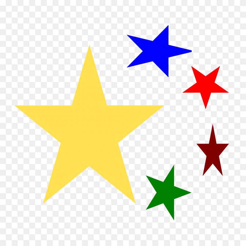 Outlined Skull - Star Shape Clipart