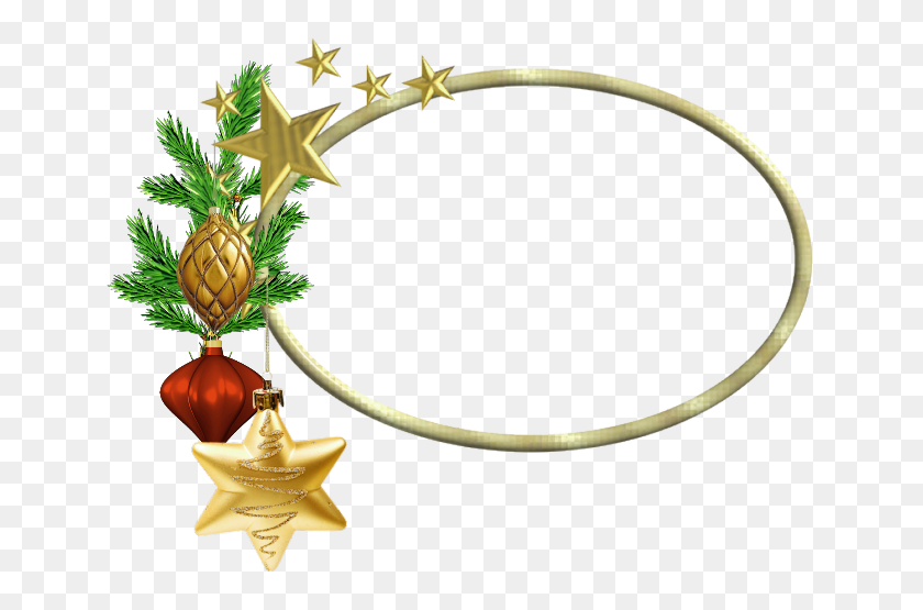 Oval Christmas Png Photo Frame - Oval Frame PNG