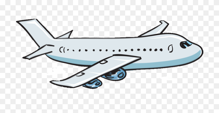 Over Black White Cartoon Cliparts Black White Cartoon - Airplane Black And White Clipart