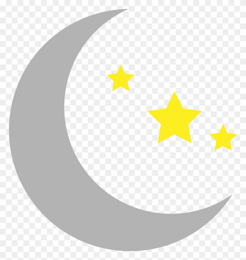 Over Crescent Moon And Star Clipart Cliparts Crescent Moon - Simple Banner Clipart