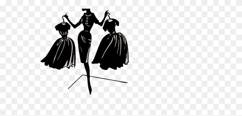 Over Fashion Show Clip Art Cliparts Fashion Show - Black Dress Clipart