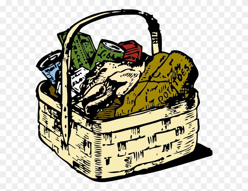 Over Food Baskets Clip Art Cliparts Food Baskets - Folk Art Clipart