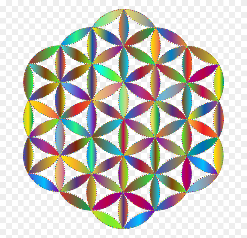 684x750 Overlapping Circles Grid Sacred Geometry Symbol Ornament Free - Sacred Geometry PNG