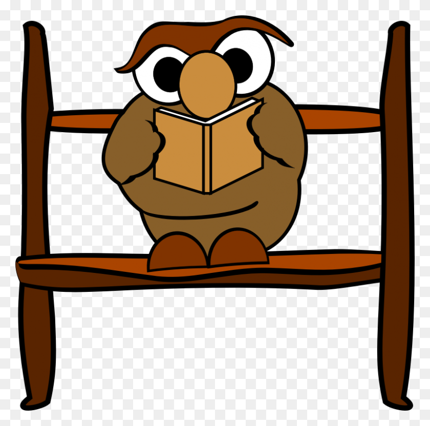 Owl Reading Book Clip Art Free Image - Reading Book Clip Art